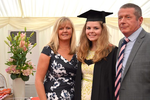 Katie O'Connor with her parents