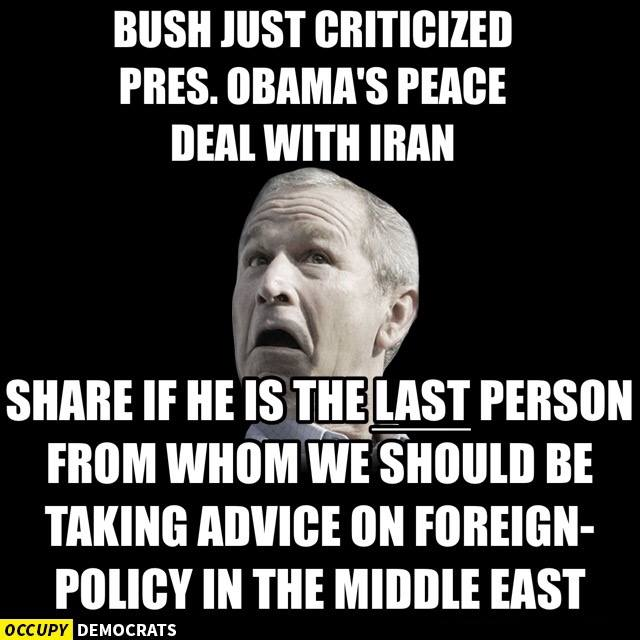 occupy democrats against bush