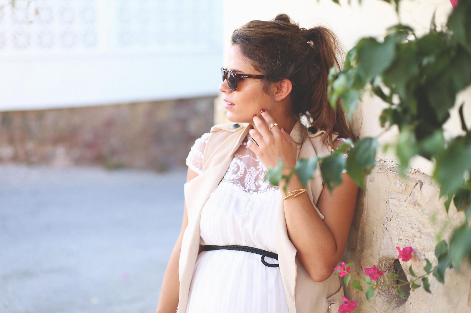 beaded white short dress