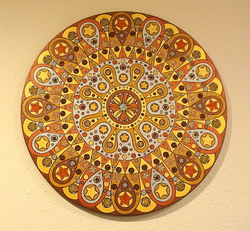 Metallic Mandala on wall