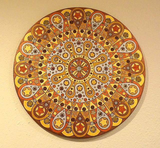 Metal Mandala on wall