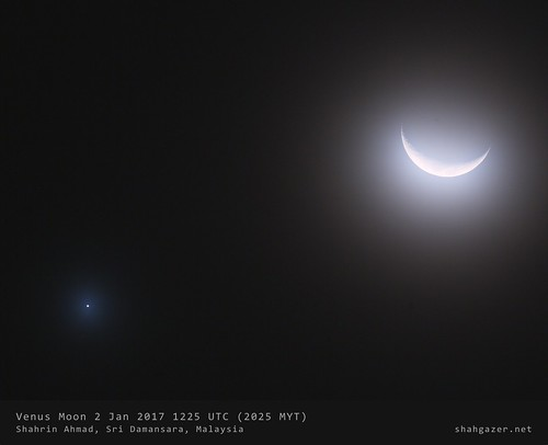 Moon Venus 2 Jan 2017