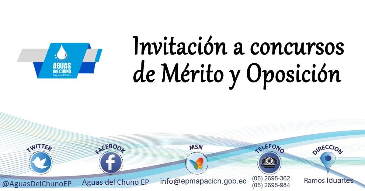 Invitación a concursos de Mérito y Oposición