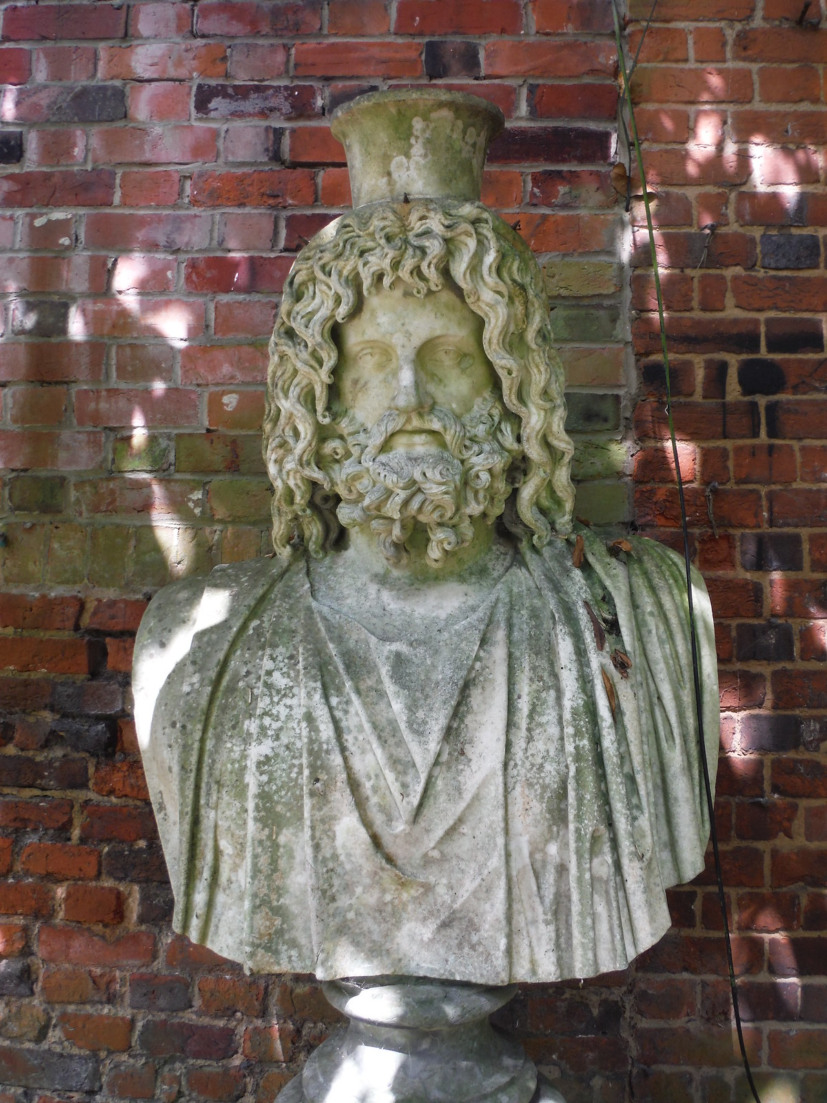 Bust in Water Garden SWC Walk 15 : Winchester Circular