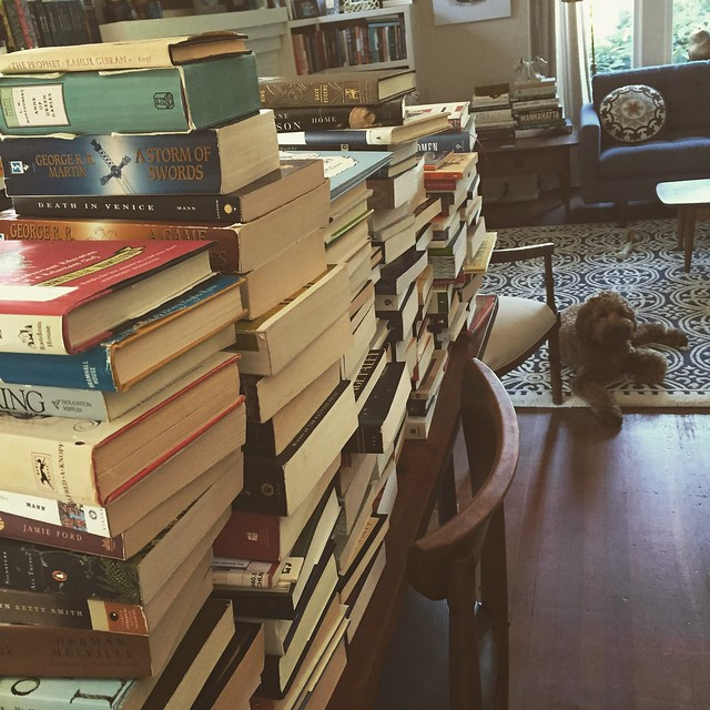 books + george. a good combo