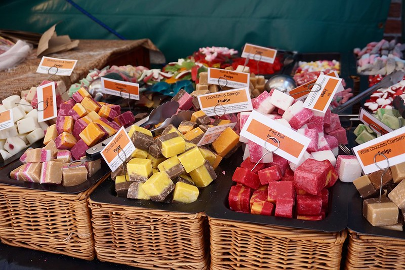 fudge coloured fudge photo diary Gloucester food festival gloucester quays