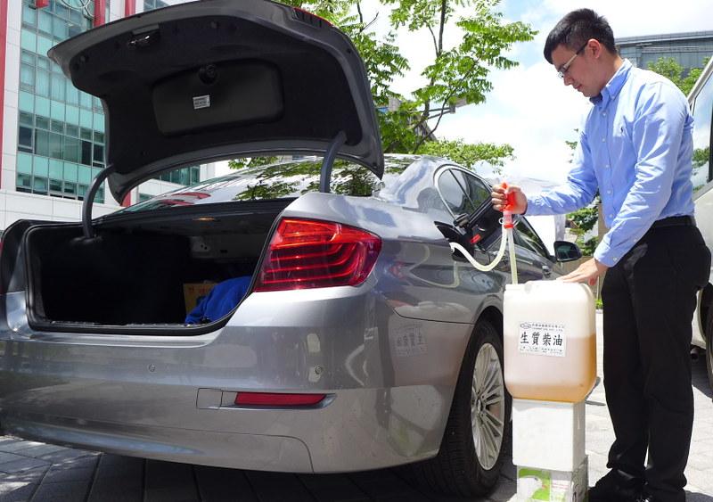 100%生質柴油可取代化石柴油。攝影:陳文姿。