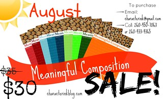 August Meaningful Composition SALE