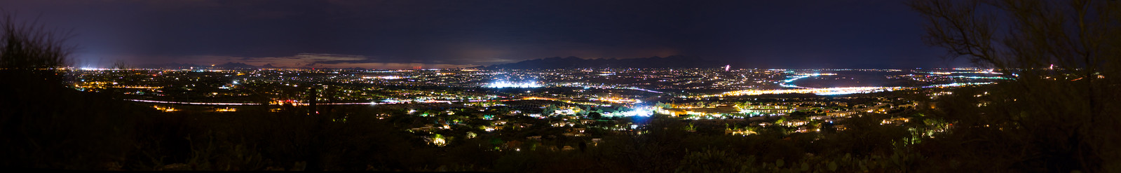 1507 July 4th Tucson from near the Linda Vista Trail