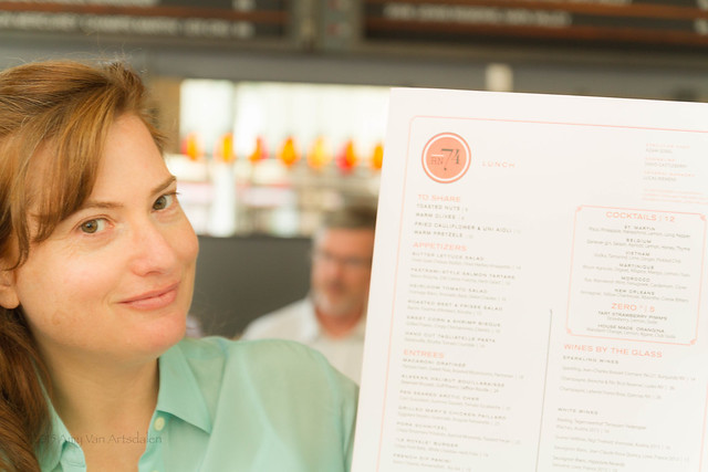 Christine and the menu