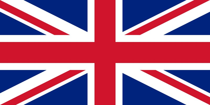 Union Jack, the combined flag of of the Kingdom of Great Britain and Ireland