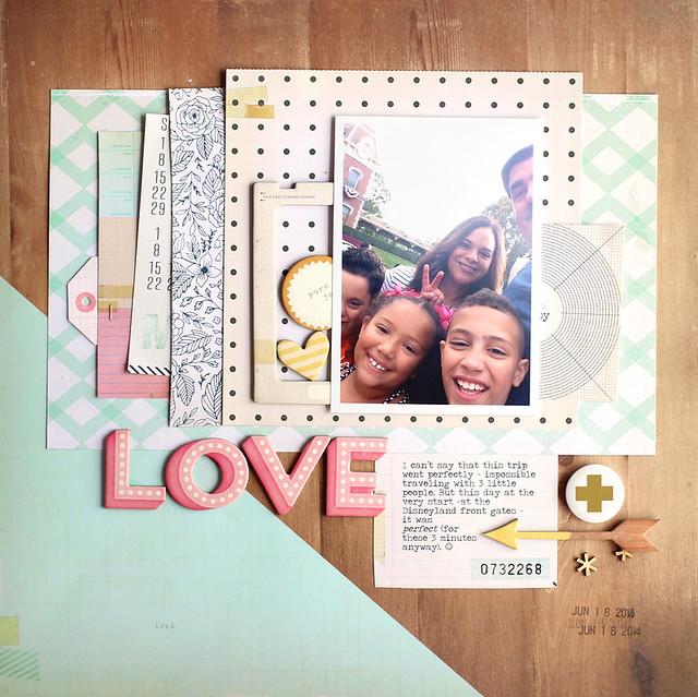 Nancy Damiano | Maggie Holmes Confetti scrapbook page