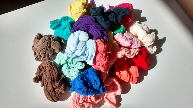 20 pack of coloured knee-highs
