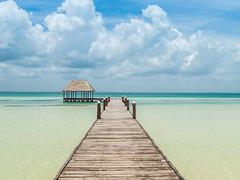 beach pier Holbox island Mexico Strand Pier