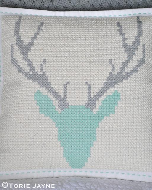 DIY cross stitch cushion 5