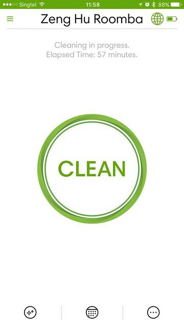 iRobot iOS App - Cleaning In Progress