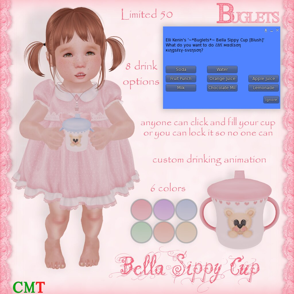Bella Sippy Cup AD - SecondLifeHub.com