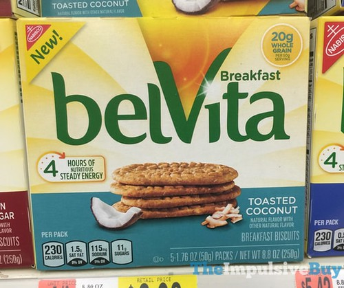 belVita Toasted Coconut Breakfast Biscuits