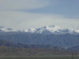 Driving from Issyk-Kul to Bishkek