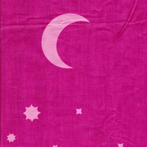 粉色 星星月亮 精梳棉床品床單布料 CA490243