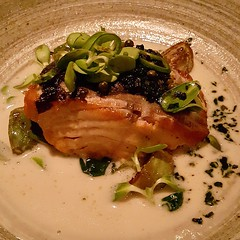 •Pan-seared Salmon with Coconut milk and Galangal broth•  Superb dish! Salmon was perfectly cooked and the coconut broth was a perfect match (perfect with steamed rice too!). ⭐⭐⭐⭐⭐ for this amazing asian dish.