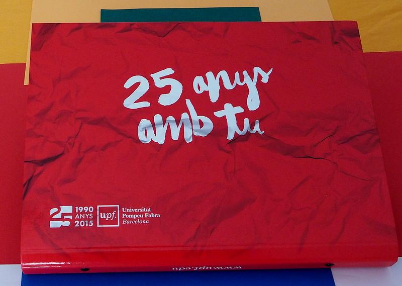 Carpeta aniversari de la UPF: 25 anys amb tu