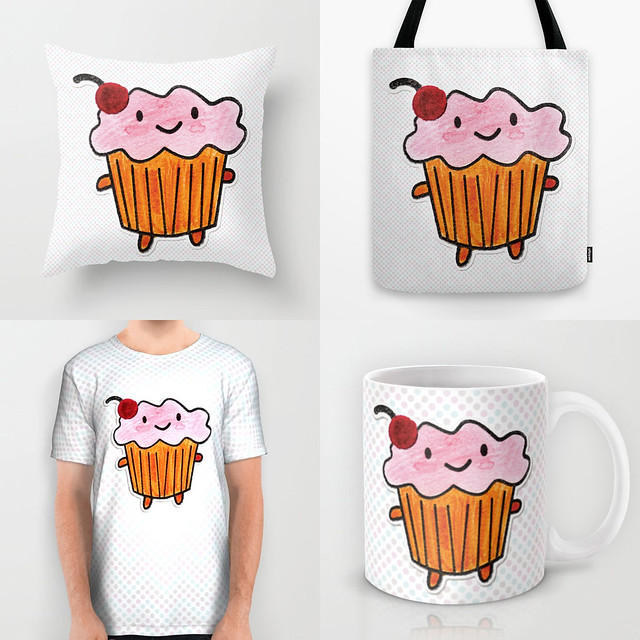 Cakeify in Watercolours at Society6