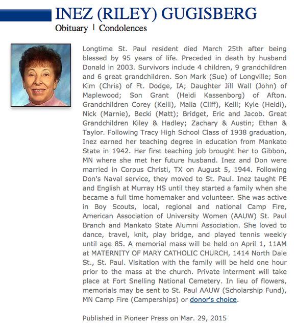 3.29.15 Inez Gugisberg obituary