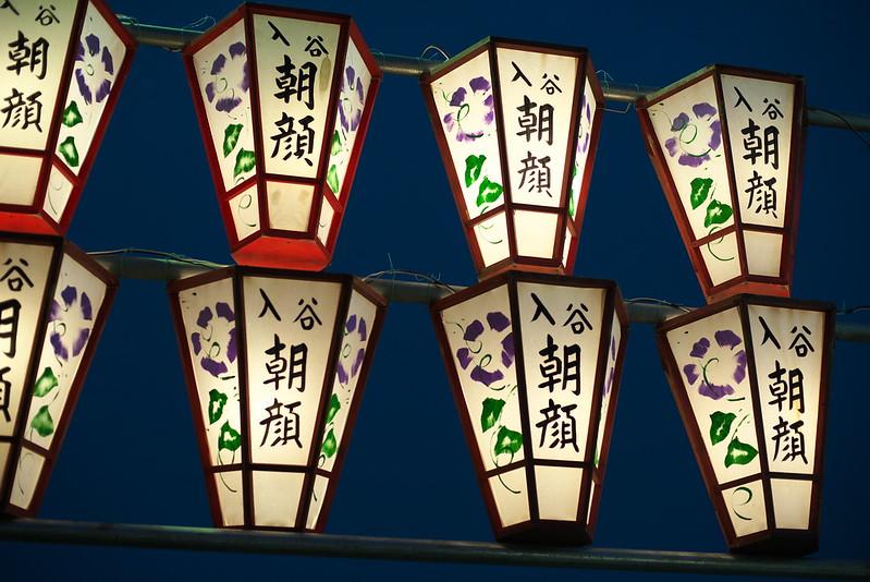 入谷 朝顔まつり 2015年7月7日