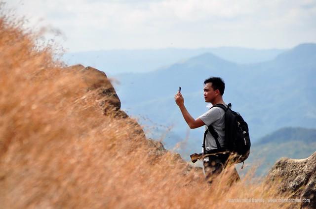 Hiker at Mount Palay-Palay