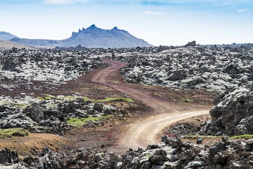 road lava iceland isl borgarbyggð