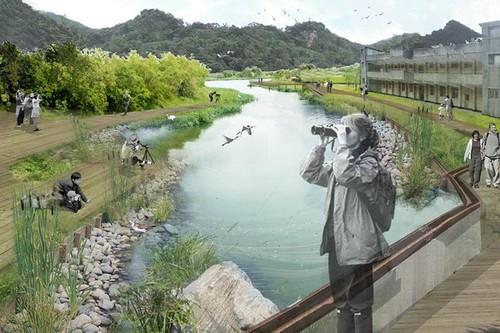 永春陂營區要改造成台北市首座都會濕地公園。(圖/台北市政府提供)