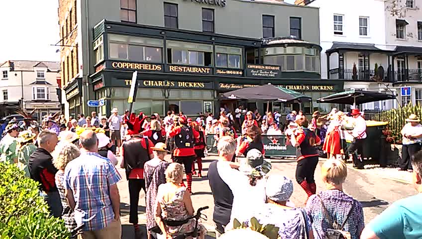 Morris dancers (very short video) Broadstairs Folk Week