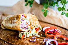 Delicious vegan wrap