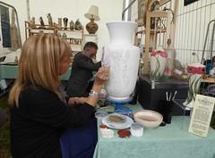 Handpainting Burslem Pottery