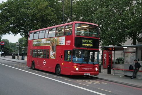 London United TLA27 on Route N97, Hyde Park Corner