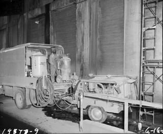 Spokane Street Bridge maintenance, 1959