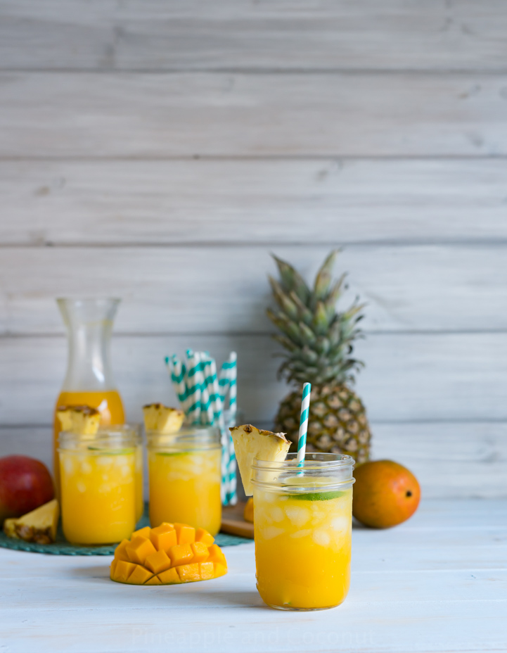 Mango Pineapple Agua Fresca. A light, refreshing popular summer drink. If you have only one fruity drink this summer, this should be it! www.pineappleandcoconut.com