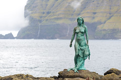 Statue of Selkie - Mikladalur on Kalsoy