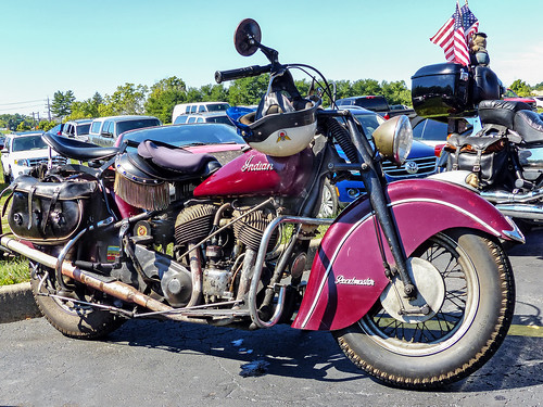 Old Indian Roadmaster Motorcycle