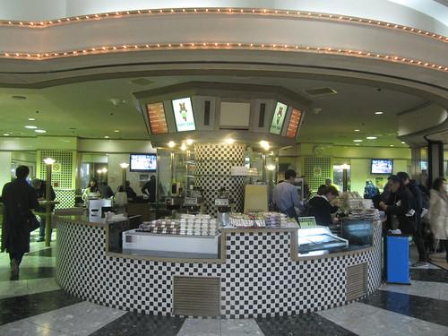 中山競馬場の2階ターフィーカフェ