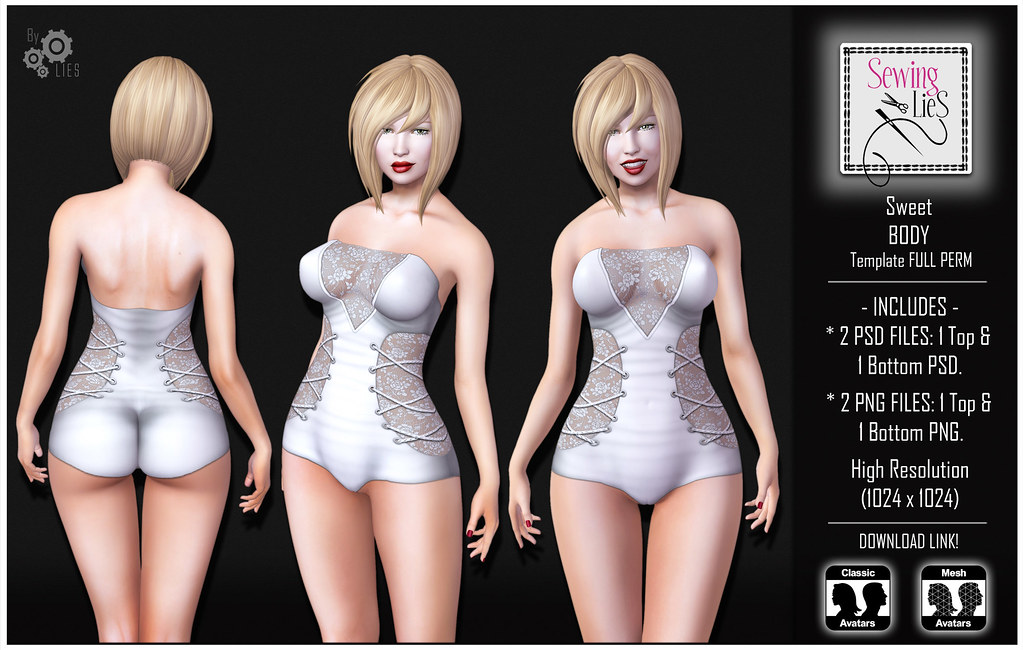 Sweet Body Template - SewingLies - SecondLifeHub.com
