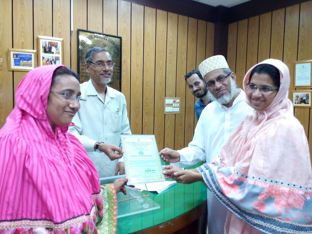 Zainab_felicilated_by_state_minority_commission_of_WB