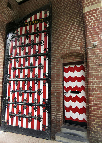 Red & White Doors at Kasteel de Haar near Utrecht, Holland