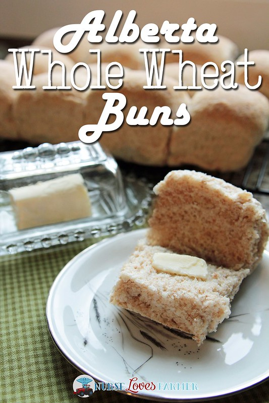 Alberta Whole Wheat Buns. Step-by-step instructions with pictures from a farm wife on how to make homemade whole wheat buns, even using your own milled wheat.