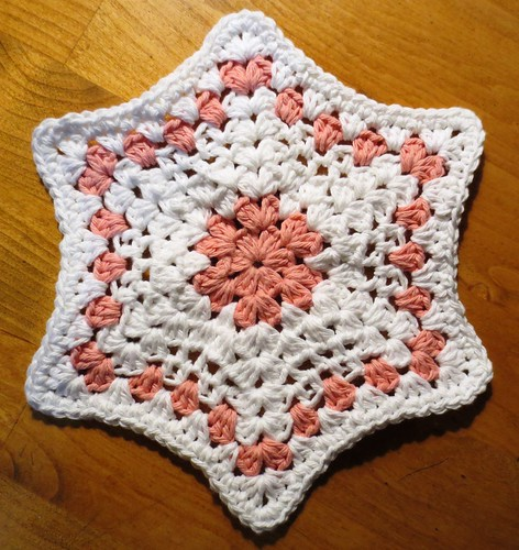 Hexagram Star Dishcloth Pattern