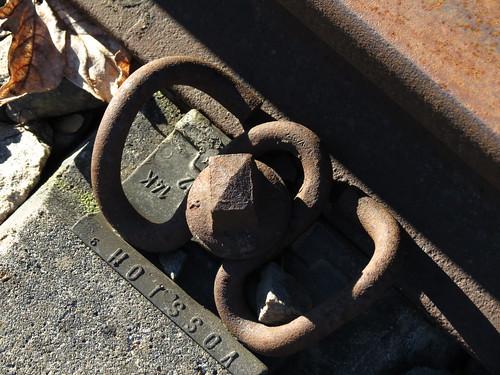 historisches Detail am Gleis