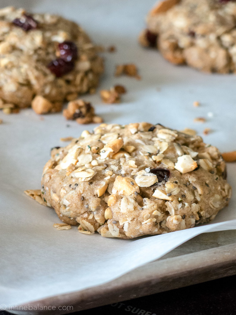 Cashew and Cranberry Breakfast Cookies vegan Qia Nature's Path cranberry chia cashew