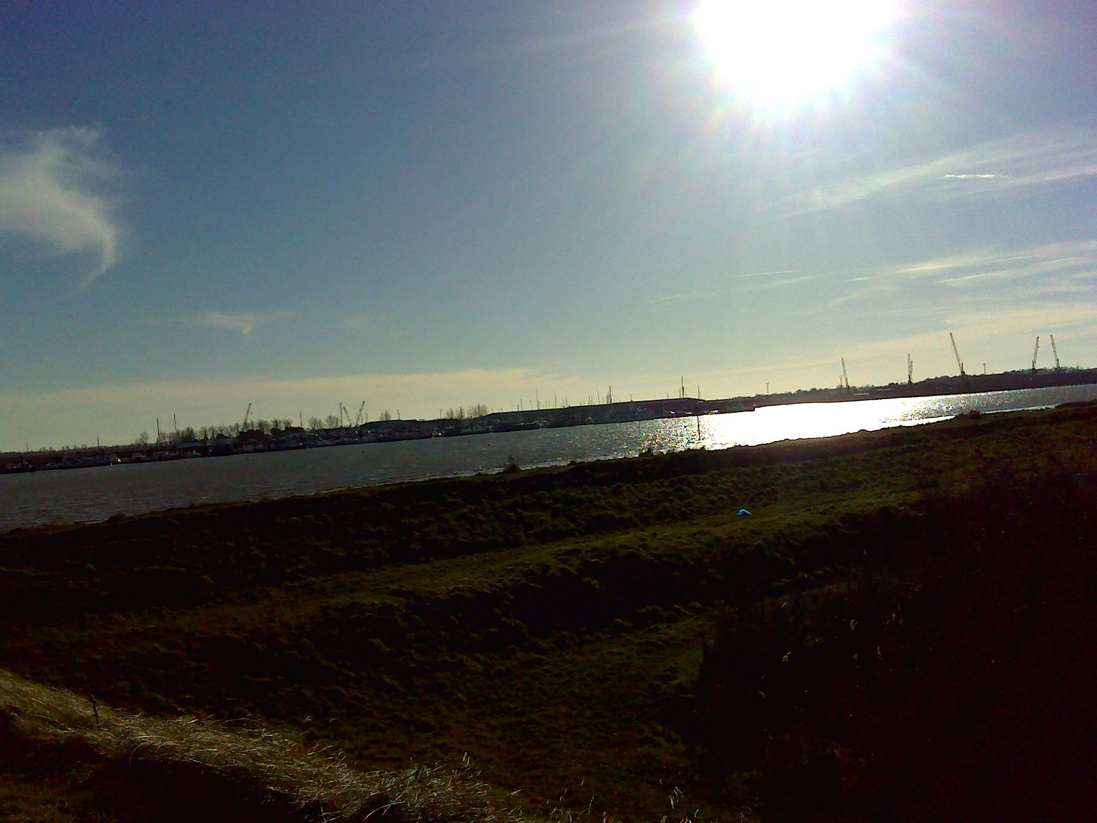 View across the Crouch River SWC Walk 162 North Fambridge to Burnham-on-Crouch Taken by Pia R