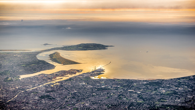 Dublin bay - Dublin, Ireland - Aerial photography